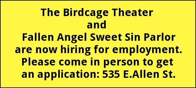 Now Hiring for Employment