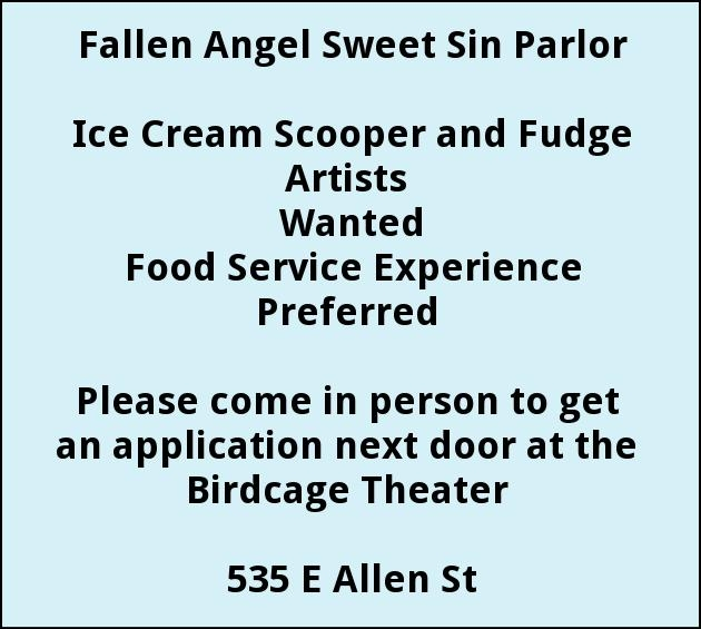 Ice Cream Scooper and Funge Artists Wanted
