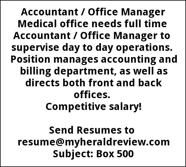 Accountant / Office Manager