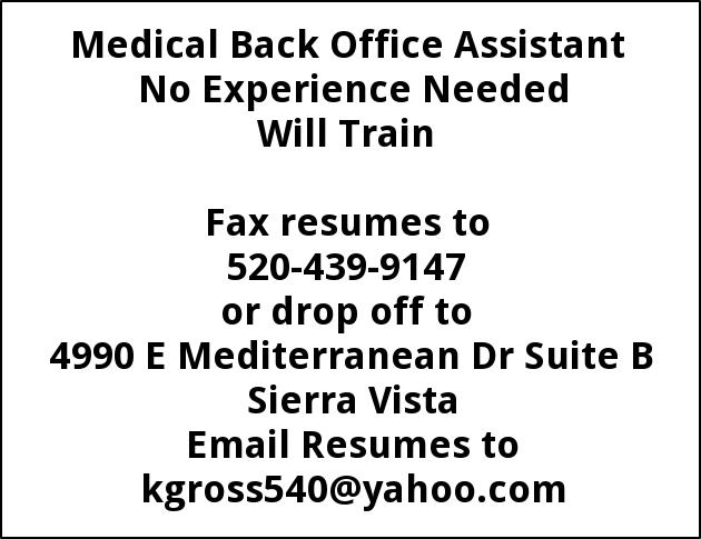 Medical Back Office Assistant Kgross540yahoo