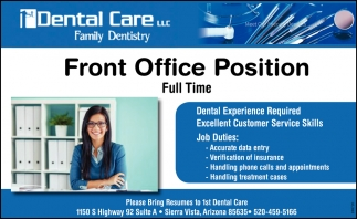 Front Office Position