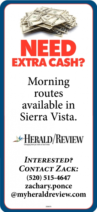 Morning Routes Available in Sierra Vista