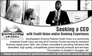 Seeking a CEO with Credit Union and/or Banking Experience