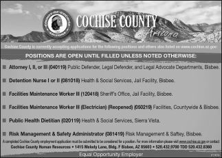 Positions are Open Until Filled Unless Noted Otherwise