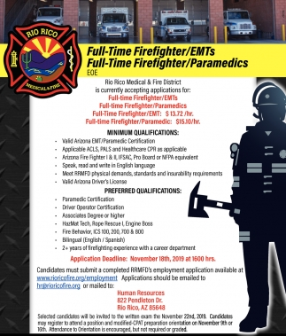 Full Time Firefighters