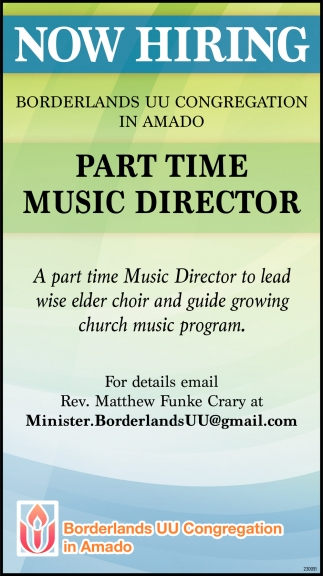 Part Time Music Director