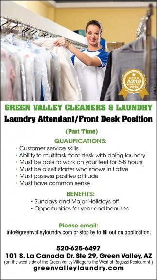 Laundry Attendant/ Front Desk Position