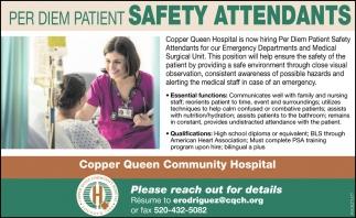 Per Diem Patient Safety Attendants